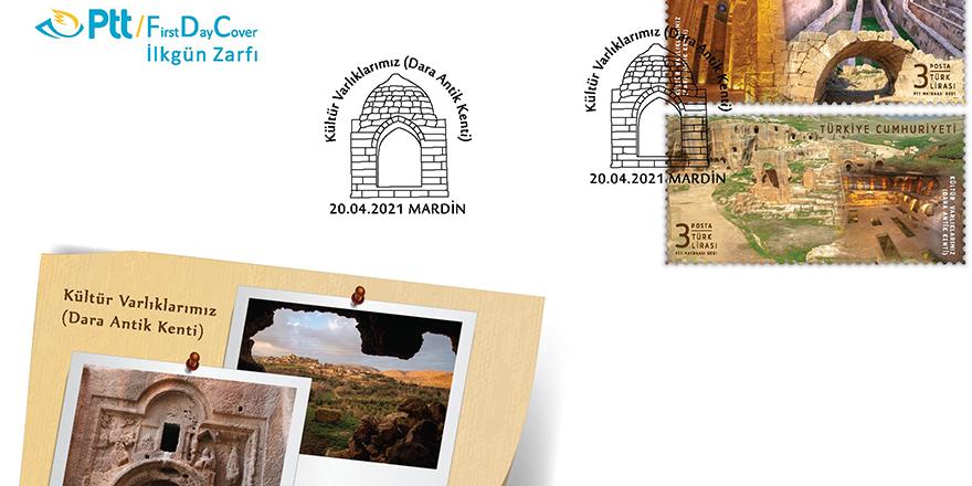Dara Antik kenti PTT pullarında