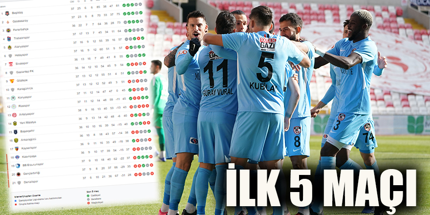 İlk 5 maçı