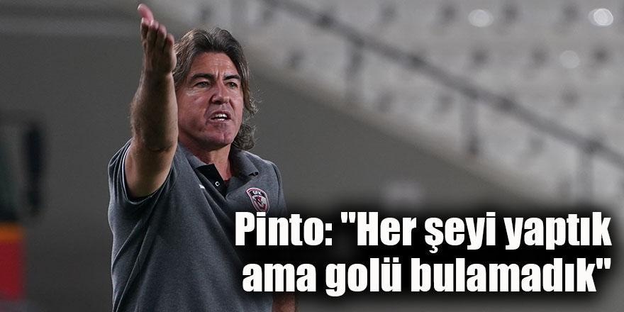 """Pinto: """"Her şeyi yaptık ama golü bulamadık"""""""