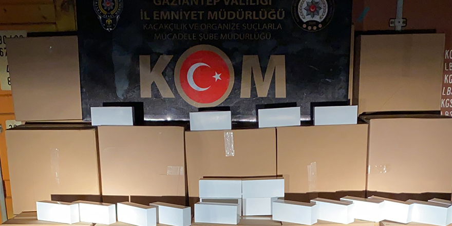 470 bin kaçak makaron ele geçirildi