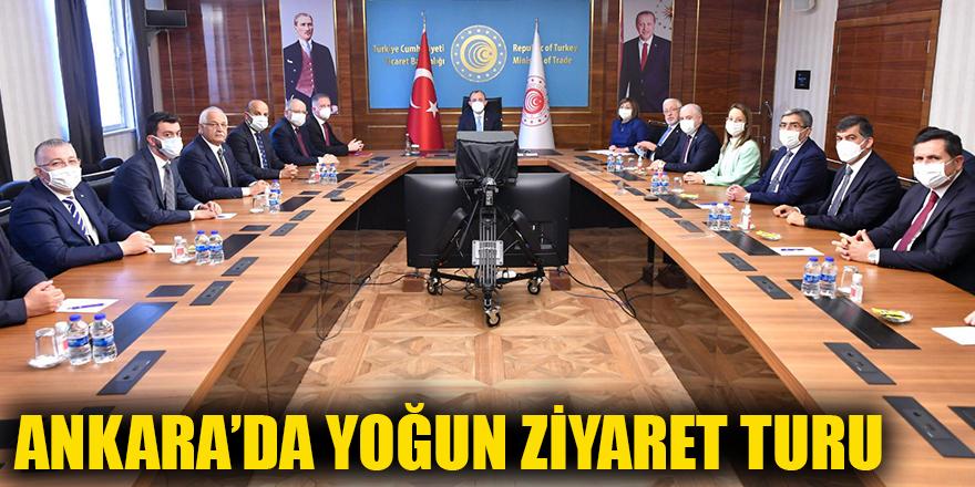 Ankara'da yoğun ziyaret turu