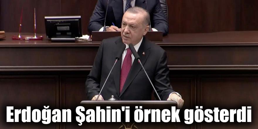 Erdoğan Şahin'i örnek gösterdi