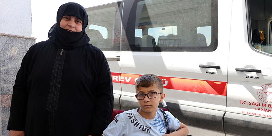 Muhammed tedavisi için Samsun'a yola çıktı