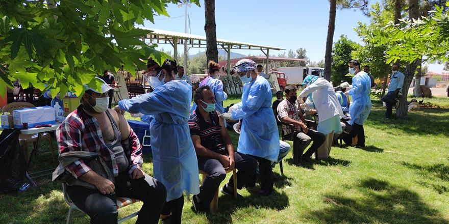 Yerinde aşı uygulaması işçilerle başladı