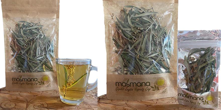 Masmana 'çiçekli zeytin yaprağı çayı' tüketiciyle buluşuyor
