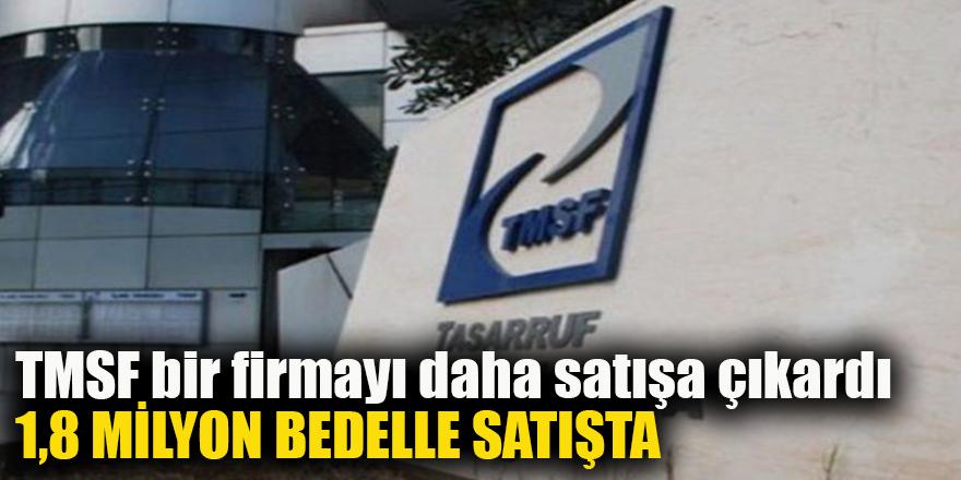 TMSF bir firmayı daha satışa çıkardı