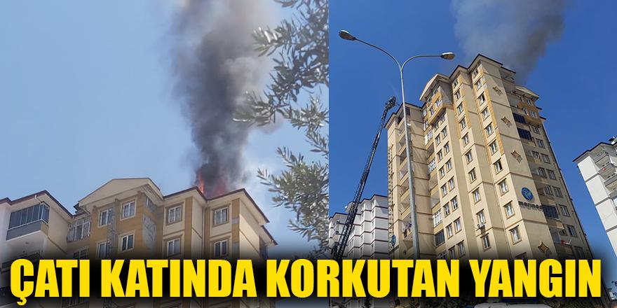 Çatı katında korkutan yangın