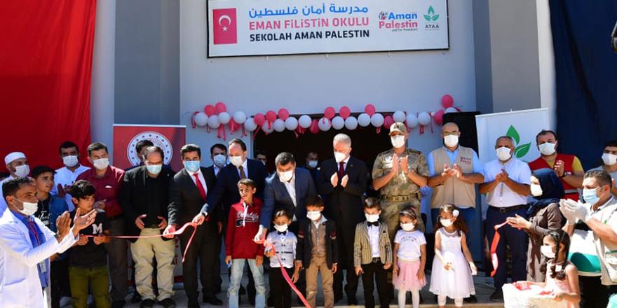 Cerablus'ta  Eman Filistin okulu açıldı