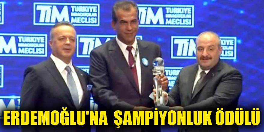 Erdemoğlu'na  şampiyonluk ödülü