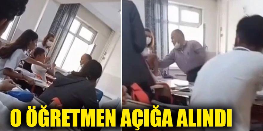 O öğretmen açığa alındı