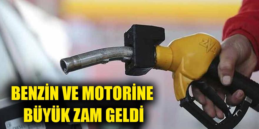 Benzin ve motorine büyük zam geldi