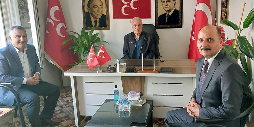 MHP'li yeni başkana ziyaret
