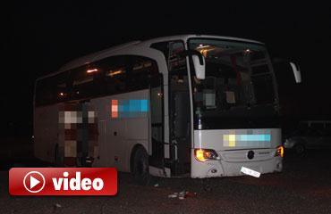 Konyada otobüs kazası: 2 yaralı