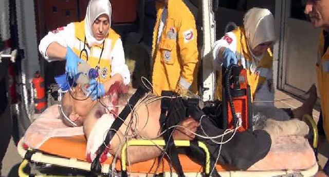 Suriyeli yaralılar Gaziantep\'e getirildi