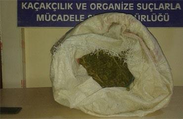 Erzurumda 2 kilo 215 gram esrar ele geçirildi