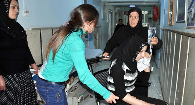 Suriyeli kadın hastanelik oldu
