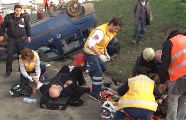 TEMde feci kaza: 6 yaralı