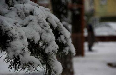 Beyaz esaret sokakları beyaza bürüdü