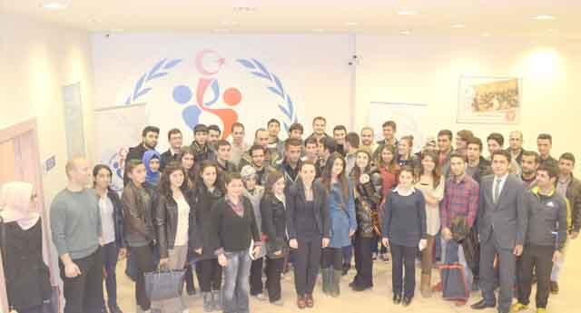 Gençlere değişim programı anlatıldı
