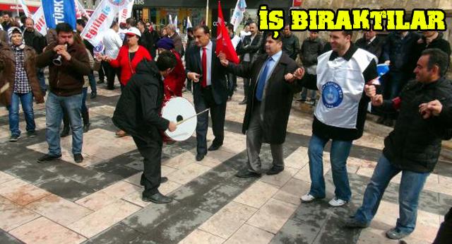 EĞİTİMCİLERDEN DAVULLU ZURNALI PROTESTO
