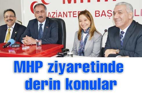 MHP ziyaretinde derin konular