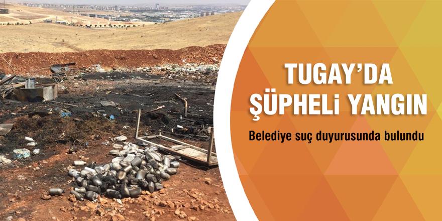 Tugay'da şüpheli yangın! Belediye suç duyurunda bulundu