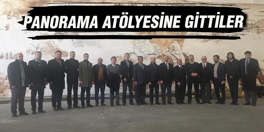 PANORAMA ATÖLYESİNE GİTTİLER