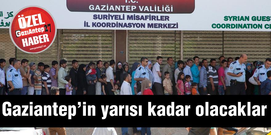 Gaziantep'in yarısı kadar olacaklar