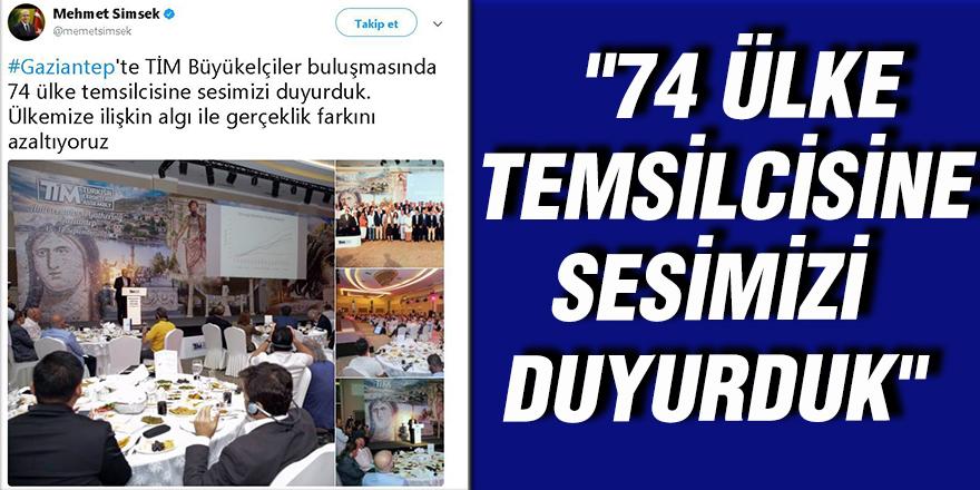 """""""74 ülke temsilcisine sesimizi duyurduk"""""""