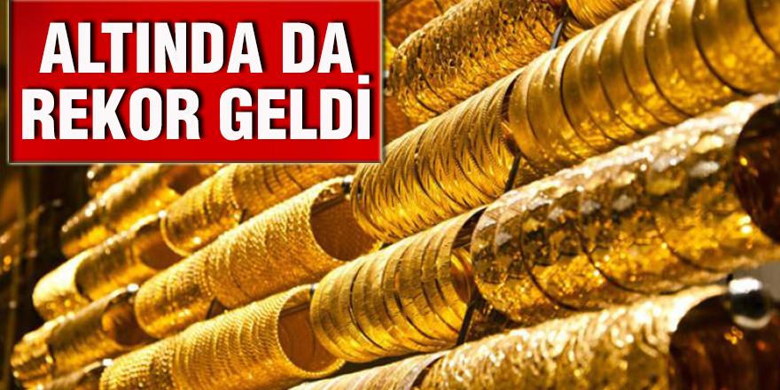 ALTINDA DA REKOR GELDİ