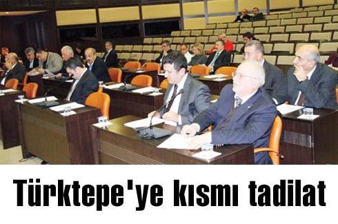 Türktepe'ye kısmı tadilat