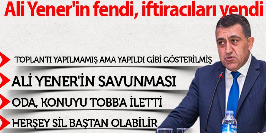 Ali Yener'in fendi, iftiracıları yendi