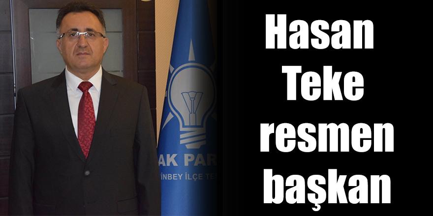 Hasan Teke resmen başkan