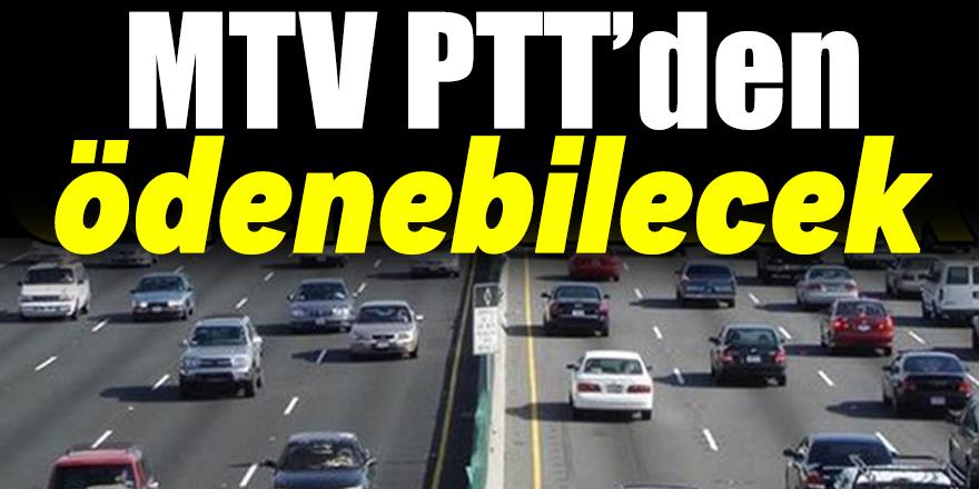 MTV Ödemeleri, PTT'den yapılabilecek