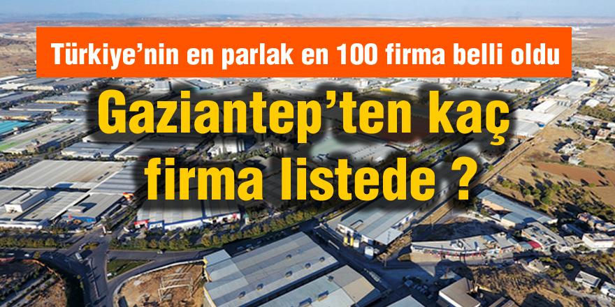Gaziantep'ten kaç firma listede ?