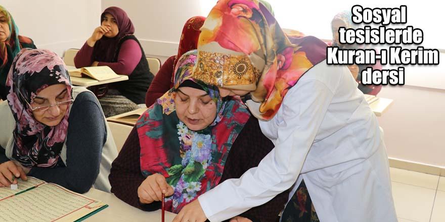 Sosyal tesislerde Kuran-ı Kerim dersi