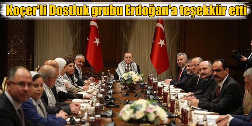 Koçer'li Dostluk grubu Erdoğan'a teşekkür etti