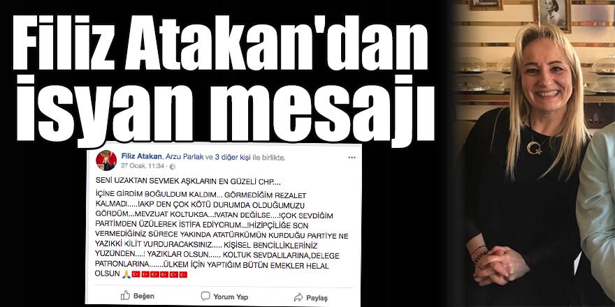 Filiz Atakan'dan isyan mesajı
