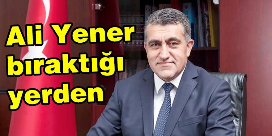 Ali Yener bıraktığı yerden