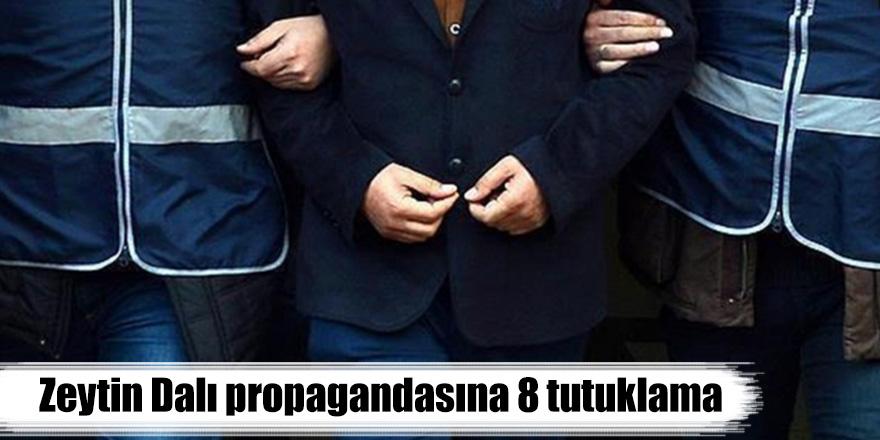 Zeytin Dalı propagandasına 8 tutuklama