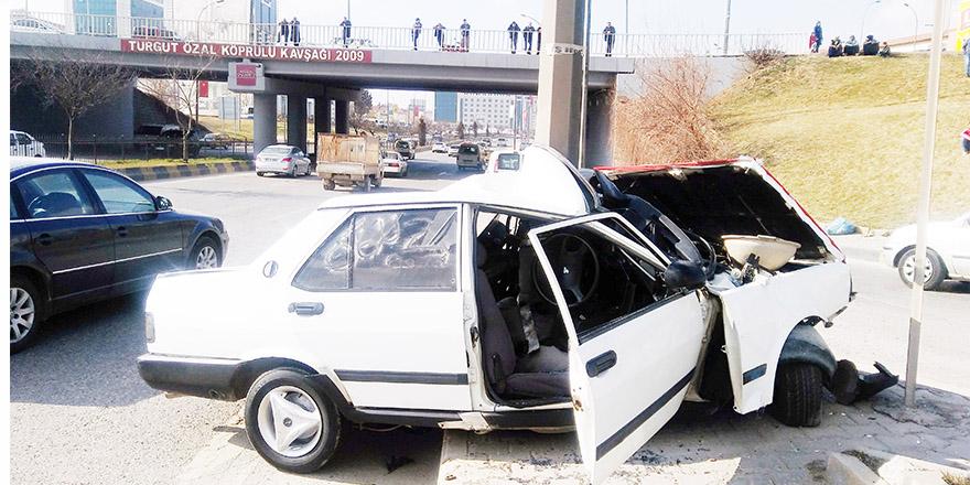 Süslediği araçla kaza yaptı