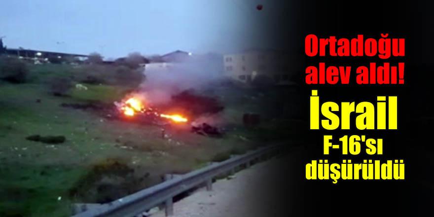 Ortadoğu alev aldı! İsrail F-16'sı düşürüldü