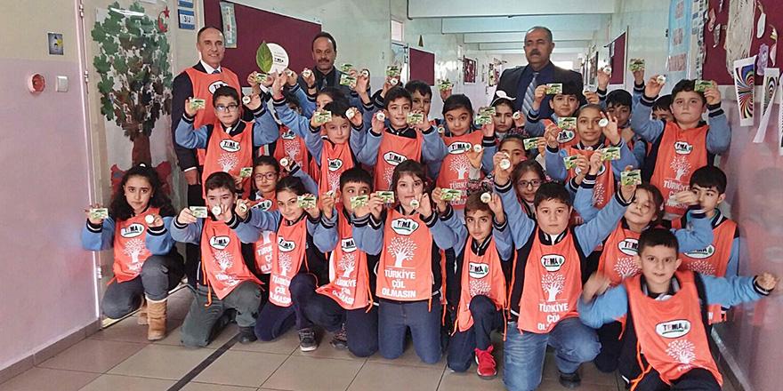 Yentur İlkokulu TEMA'ya gönüllü