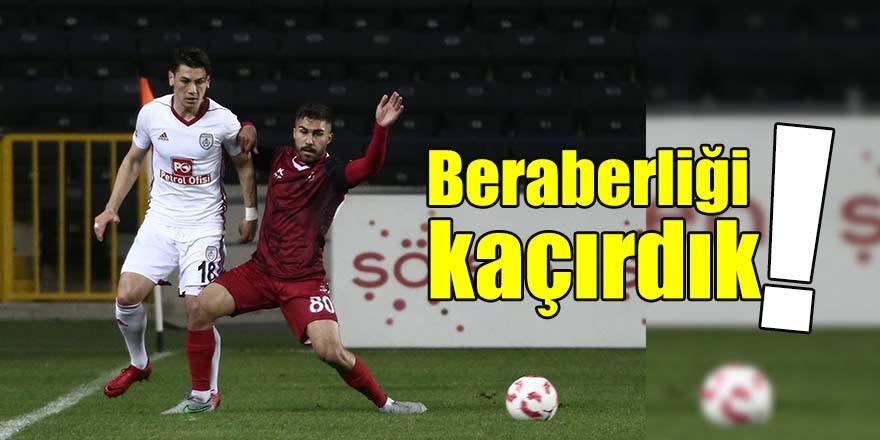BERABERLİĞİ KAÇIRDIK 0-1
