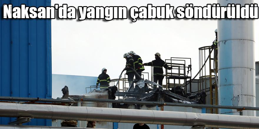 Naksan'da yangın çabuk söndürüldü