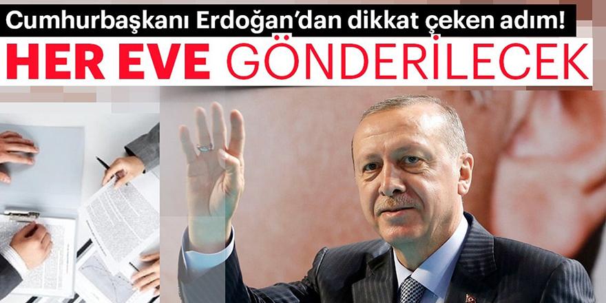 Cumhurbaşkanı Erdoğan'dan dikkat çeken adım