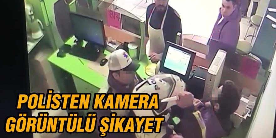 Polisten kamera görüntülü şikayet