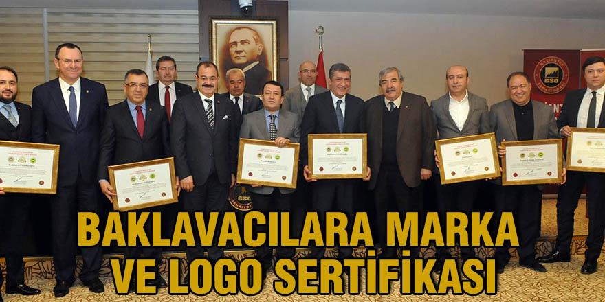 Baklavacılara marka ve logo sertifikası