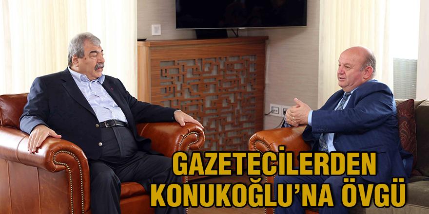 Gazetecilerden Konukoğlu'na övgü