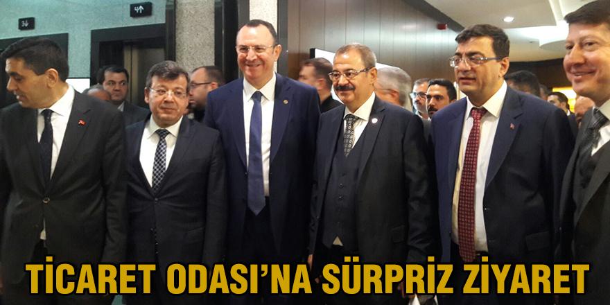 TİCARET ODASI'NA SÜRPRİZ ZİYARET